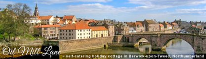 Self Catering Accomodation Berwick Upon Tweed at Oil Mill Lane Cottage